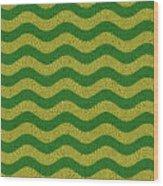 Brazilian Paving Pattern In Brazilian Colours. Wood Print