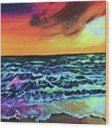 Brazilian Sunset Wood Print