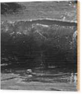 Breach Inlet Morning Waves 1 Wood Print