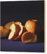 Bread And Apple Wood Print