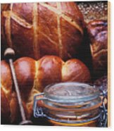 Bread And Honey Wood Print by Garry Gay