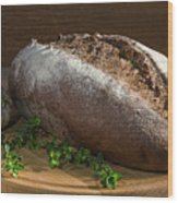 Bread With Spice Wood Print