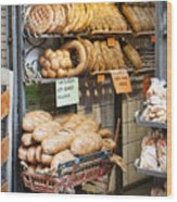 Breads For Sale Wood Print