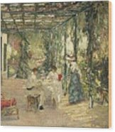 Breakfast On The Terrace Sir John Lavery Wood Print
