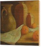 Breakfast Oranges Wood Print by Tom Forgione