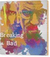 Breaking Bad Watercolor Wood Print