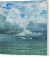 Breaking Clouds In Key West, Florida Wood Print