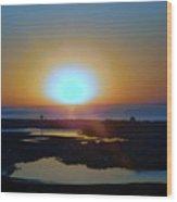 Breaking Dawn In The Big Ac Wood Print