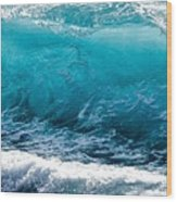 Breaking Wave At Kekaha Beach Wood Print