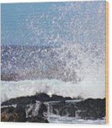 Breaking Waves Wood Print