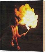 Breath Of Fire Wood Print