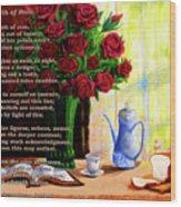 Breath Of Rose Wood Print