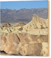 Breath Taking Landscape Of Zabriskie Point Wood Print