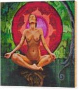 Breathe Like A Monk Wood Print