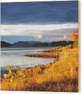 Breathing The Autumn Air Wood Print