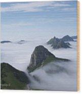Breathtaking View From Rochers De Naye Wood Print