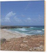 Breathtaking View Of Daimari Beach In Aruba Wood Print