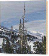 Breckenridge Resort In Summit County Colorado Wood Print