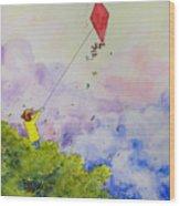 Breezy Day Happy Day Wood Print by Jaymi Krystowiak