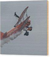 Breitling Biplane Wood Print