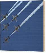 Breitling Team Crowd Pleases At Reno Air Races Wood Print