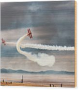 Breitling Wingwalker Biplanes Wood Print
