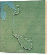 Bremen Bundesland Germany 3d Render Topographic Map Border Wood Print