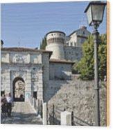 Brescia Castle Wood Print