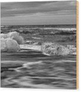 Brethamerkursandur Iceberg Beach Iceland 2155 Wood Print
