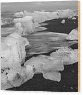 Brethamerkursandur Iceberg Beach Iceland 2319 Wood Print