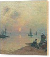 Breton Coastal Landscape At Sunset Wood Print