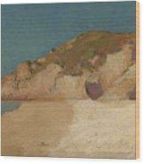 Breton Coastline Wood Print