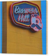 Brewers Hill Retro Wood Print