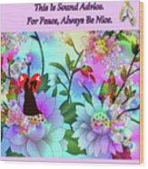 Brian Exton Celestial Flowers  Bigstock 164301632  2991949 Wood Print