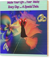 Brian Exton Orange Rose  Bigstock 164301632  2991949  12779828 Wood Print