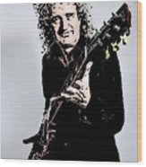 Brian May Of The Rock Group Queen Wood Print