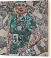 Brian O'driscoll Collage Wood Print