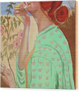 Briar Rose Wood Print by Rusty Woodward Gladdish