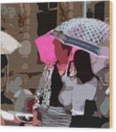 Bribane In The Rain #2 Wood Print