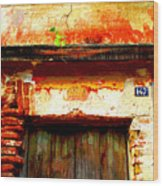 Brick And Wood By Darian Day Wood Print