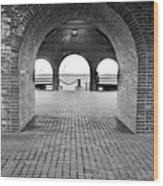 Brick Arch Wood Print by Greg Fortier