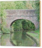 Brick Canal Bridge  Wood Print