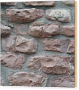 Brick Grungy Texture Wood Print