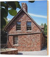 Brick House Wood Print