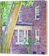 Brick House Three Wood Print