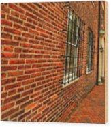 Brick Houses Wood Print
