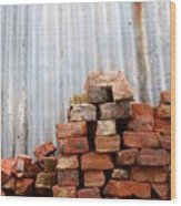 Brick Piled Wood Print by Stephen Mitchell