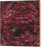 Brick Red Wood Print