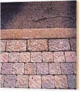 Brick Sidewalk 3 Wc Wood Print