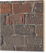 Brick Street Wood Print